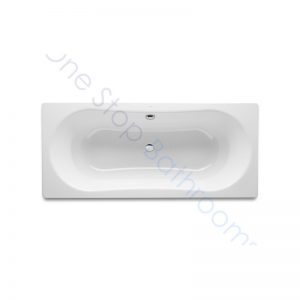 Roca Duo Plus 1800 x 800 Recessed Steel Bath – With Anti-Slip