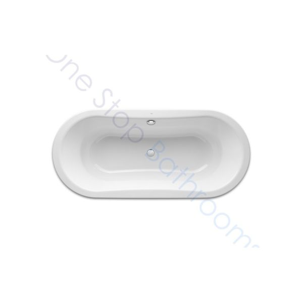 Roca Duo Oval Plus 1800 x 800 Recessed Steel Bath