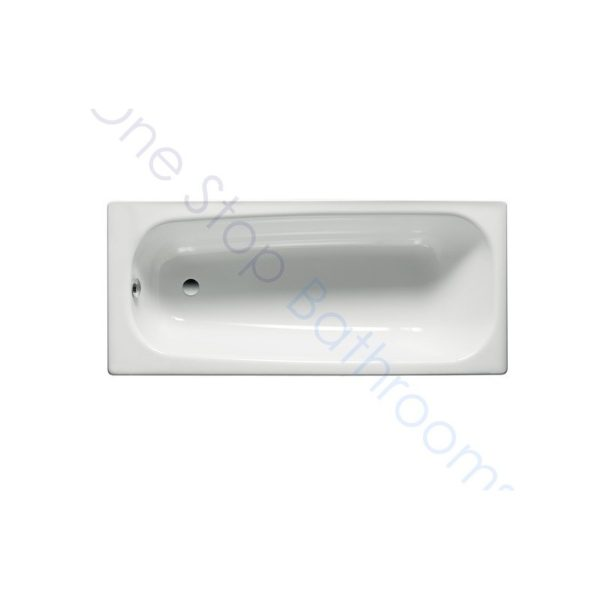 Roca Contesa Plus 1600 x 700 Recessed 2TH Steel Bath - With Anti-Slip