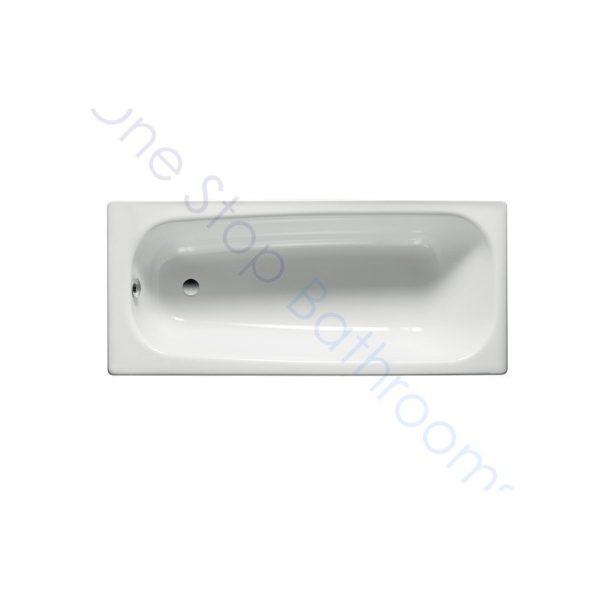 Roca Contesa Plus 1600 x 700 Recessed 0TH Steel Bath - With Anti-Slip