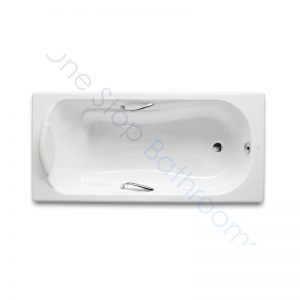 Roca Haiti 1700 x 800 Recessed Cast Iron Gripped Bath – 2TH