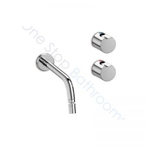 Roca Element Wall-Mounted 3-Hole Bidet Mixer for 0TH Bidet