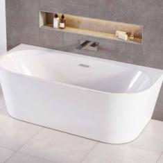Tissino Angelo D Shape Bath 1700 x 800mm