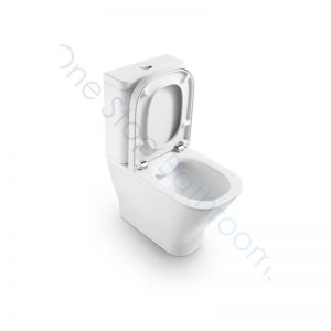 Roca The Gap Square Rimless Compact BTW Close Coupled WC Pan,Cistern & Soft Close Seat (with cut out for isolation valve)