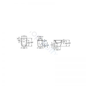 Roca Inspira Round Over-Rim BTW Bidet Pan & Soft Close Cover