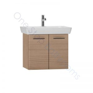 Vitra S20 65cm Wall Hung Double Door Vanity Unit with Basin – Golden Cherry