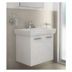 Vitra S20 85cm Wall Hung Double Door Vanity Unit with Basin – Gloss White