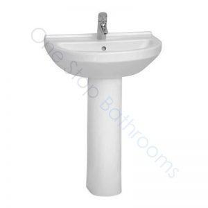 Vitra S50 Round Basin 65 x 49cm 1TH with Full or Large Semi Pedestal