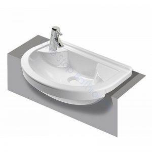 Vitra S50 Round Compact Semi-Recessed Basin 55 x 36cm 1TH