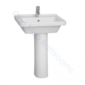 Vitra S50 Square Basin 55 x 45cm 1TH with Full or Large Semi Pedestal