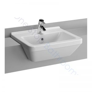 Vitra S50 Square Semi-Recessed Basin 55 x 47cm 1TH