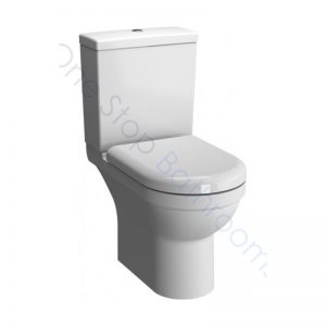 Vitra S50 Rimless Close Coupled WC Pan Open Back, Cistern & Soft Close Seat