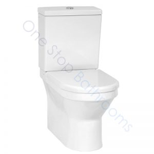 Vitra S50 Rimless Close Coupled WC Pan Fully Back to Wall, Cistern & Soft Close Seat