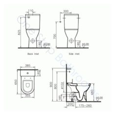 Vitra S50 Comfort Height CC WC Pan Fully BTW, Cistern & S/C Seat