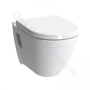 Vitra S50 Rimless Wall Hung WC Pan with Soft Close Seat