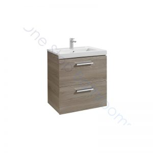 Roca Prisma Unik 600 x 460 x 694mm 2 Drawer Wall Hung Base Unit and Basin
