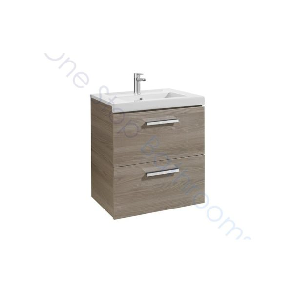 Roca Prisma Unik 600 x 460mm 2 Drawer Wall Hung Base Unit and Basin