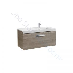 Roca Prisma Unik 900 x 460mm 1 Drawer Wall Hung Base Unit and RH Basin