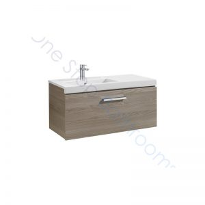 Roca Prisma Unik 900 x 460mm 1 Drawer Wall Hung Base Unit and LH Basin