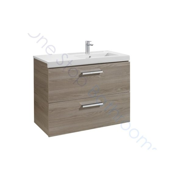 Roca Prisma Unik 900 x 460mm 2 Drawer Wall Hung Base Unit and RH Basin