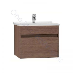 Vitra S50 60cm Vanity Unit with Drawer and Basin 1TH – Oak