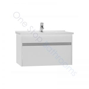 Vitra S50 80cm Vanity Unit with Drawer and Basin 1TH – Gloss White