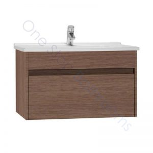 Vitra S50 80cm Vanity Unit with Drawer and Basin 1TH – Oak