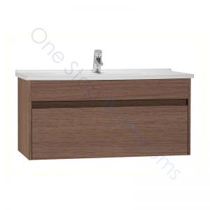 Vitra S50 100cm Vanity Unit with Drawer and Basin 1TH – Oak