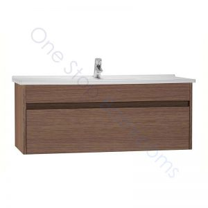 Vitra S50 120cm Vanity Unit with Drawer and Basin 1TH – Oak