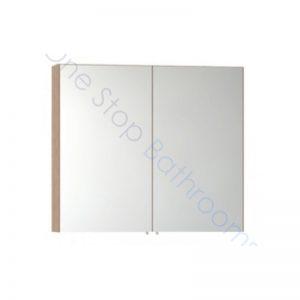 Vitra S50 Double Door Mirror Cabinet 80 x 70cm – Oak
