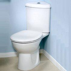 Vitra Layton Corner Close Coupled WC Pan, Cistern & Soft Close Seat