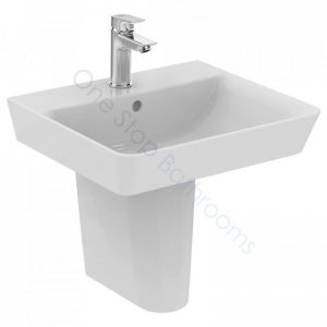 Ideal Standard Concept Air Cube 50cm 1TH Basin & Pedestal