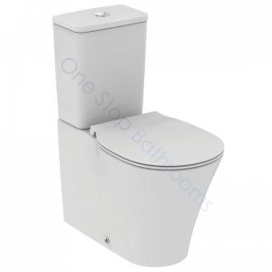 Ideal Standard Concept Air Cube CC  BTW WC Pan, Cistern & Soft Close Seat with Isovalve Access Hole