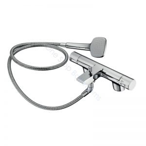 Ideal Standard Active Dual Control 2TH Thermostatic Bath Shower Mixer Complete with Shower Kit