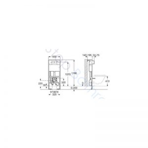 Roca Duplo WC Smart Installation System for In-Wash Inspira.