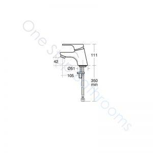Ideal Standard Alto Single Lever 1TH Basin Mixer No Waste
