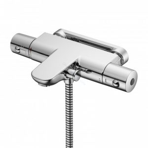 Ideal Standard Alto Ecotherm Bath/Shower Mixer with Body and Fast-Fix Wall Bracket