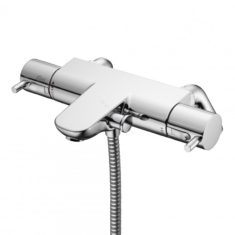 Ideal Standard Alto Ecotherm Bath/Shower Mixer with Metal Pin Handles and Rim Mounting Legs
