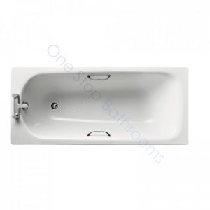 Ideal Standard Simplicity Steel 1600 x 700mm Bath with Twin Grips