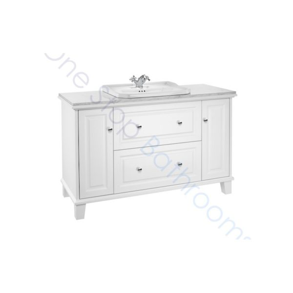 Roca Carmen 1300mm White Satin Base Unit & Basin