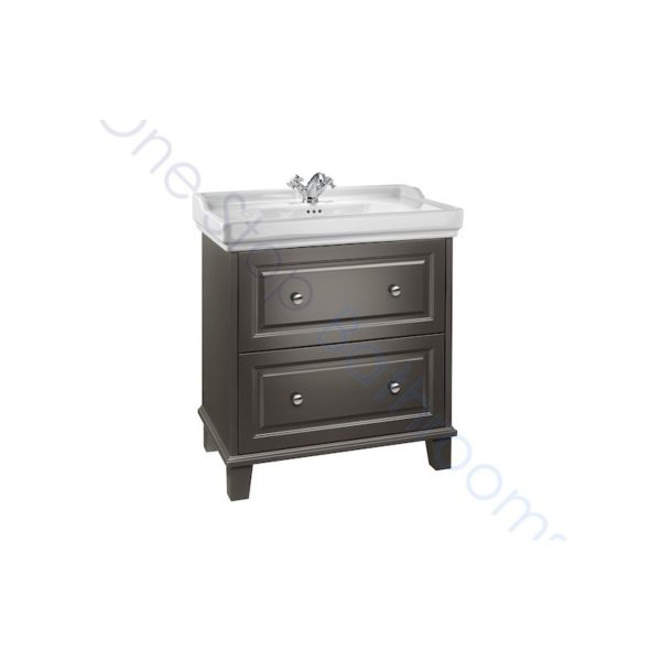 Roca Carmen 800mm Anthracite Satin Base Unit & Basin