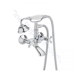 Roca Carmen Twin-Lever Wall-Mounted Bath Shower Mixer