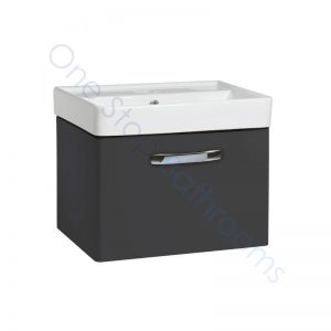 Tavistock Compass Gloss Clay 600mm Wall Hung Drawer Unit and Basin with 1 Tap Hole