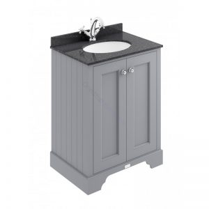 Bayswater 600mm 2 Door Marble Top Basin Cabinet