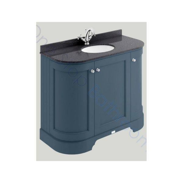 Bayswater 1000mm 3 Door Curved Basin Cabinet