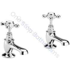 Bayswater Crosshead Hex Collar Basin Taps