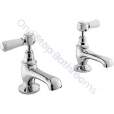 Bayswater Lever Hex Collar Basin Taps