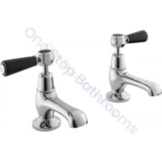 Bayswater Lever Dome Collar Basin Taps