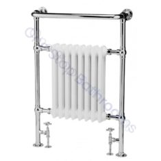 Bayswater Traditional Clifford 963 x 673mm White Towel Rail