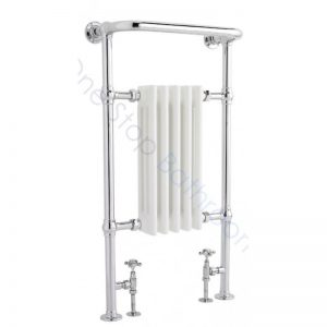 Bayswater Traditional Clifford Skinny 965 x 540mm White Towel Rail